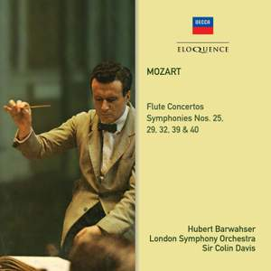 Colin Davis conducts Mozart with the LSO – five Symphonies and, with Hubert Barwahser, the Flute Concertos [Eloquence]