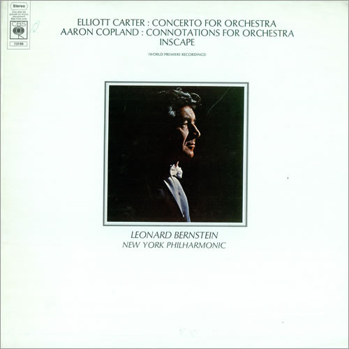 From the Anderson Archive – No.5 – Leonard Bernstein records Elliott Carter's Concerto for Orchestra with the New York Philharmonic for CBS.