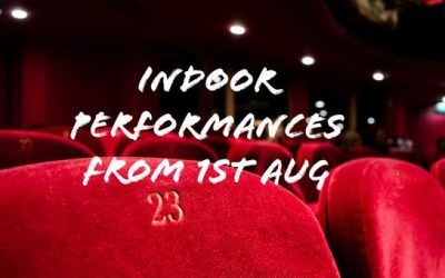 ISM responds to government's announcement that indoor live performances can resume with socially distanced audiences from August 1.