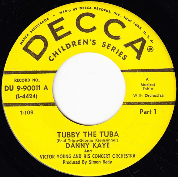 From the Anderson Archive – No.3 – Danny Kaye & Victor Young record Tubby the Tuba for Decca.