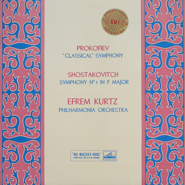 From the Anderson Archive – No.12 – Efrem Kurtz records the First Symphonies of Prokofiev & Shostakovich with the Philharmonia Orchestra for HMV.