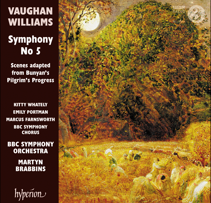 RELEASED TODAY, October 30: Martyn Brabbins & BBCSO record Vaughan Williams's Fifth Symphony and Pilgrim's Progress for Hyperion.