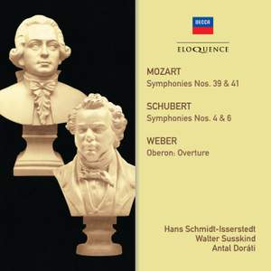 Eloquence collects Symphonies by Mozart & Schubert with the LSO in Mercury recordings conducted by Hans Schmidt-Isserstedt & Walter Susskind…