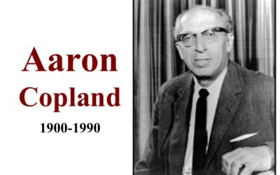 Born on November 14, 1900: composer, conductor & pianist Aaron Copland.