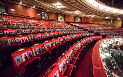 Year 7 self-portraits at the London Coliseum.