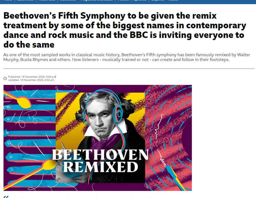 Beethoven's Fifth Symphony to be given the remix treatment…