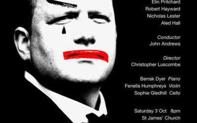 Christopher Luscombe returns to The Grange Festival with pop-up chamber performances of Pagliacci (13 December 2020).