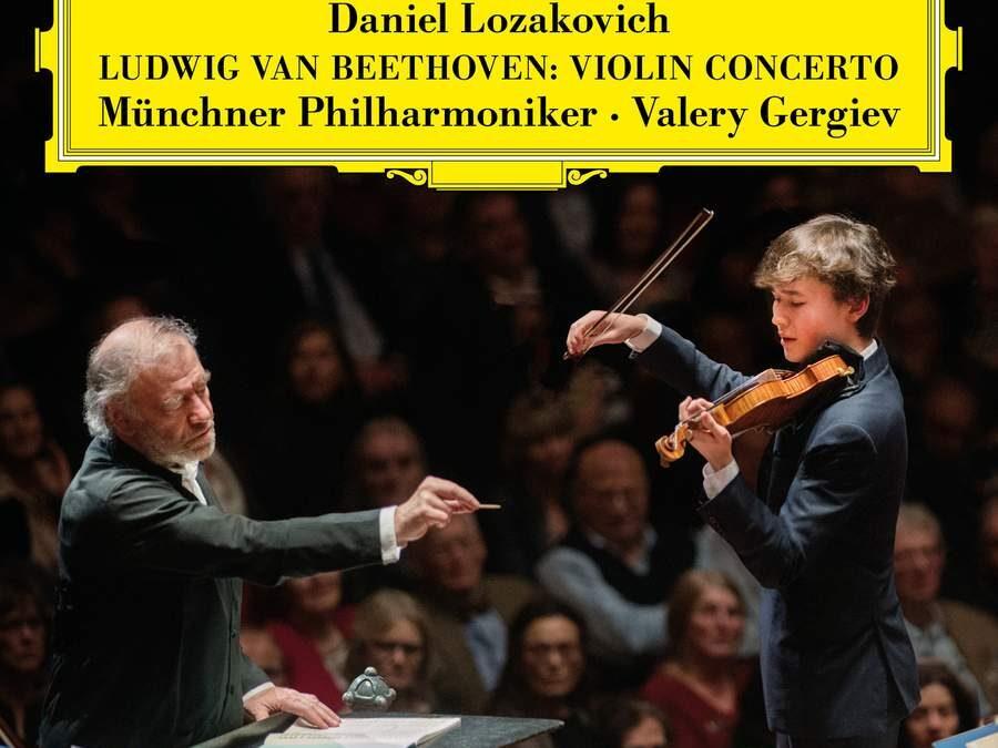 Daniel Lozakovich records Beethoven's Violin Concerto in Munich with Valery Gergiev for Deutsche Grammophon.