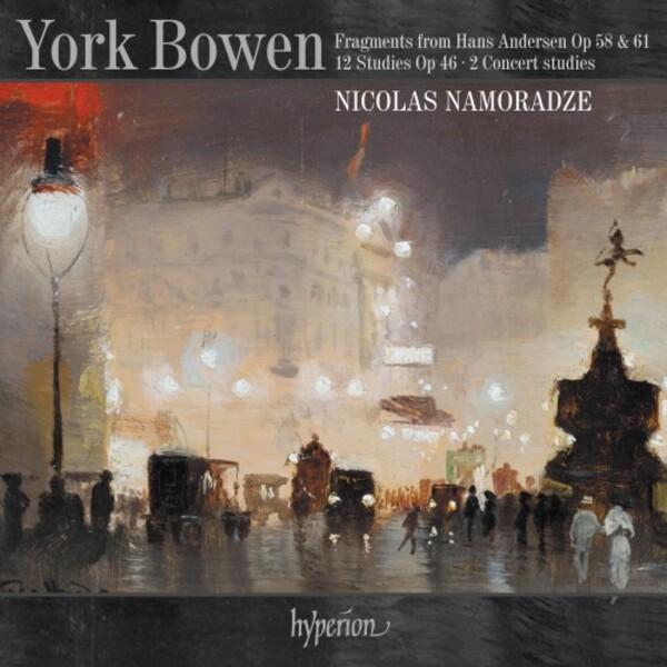Nicolas Namoradze records piano music by York Bowen for Hyperion.