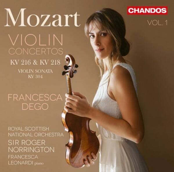 Francesca Dego records Mozart Violin Concertos K216 & K218 with RSNO and Roger Norrington for Chandos.